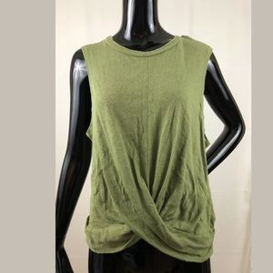 Anthropologie Deletta Linen Blend Top Large
